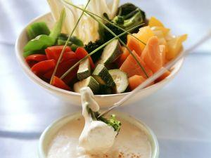 Fondue mit Gemüse Rezept
