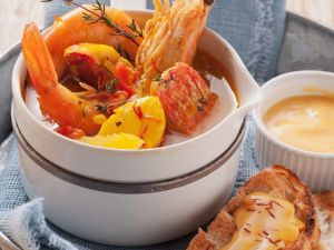 Französische Fischsuppe herstellen Rezept