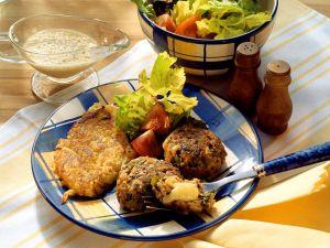 Frikadellen mit Kartoffelupffer Rezept
