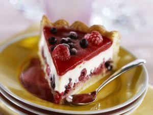 Frischkäse-Beeren-Kuchen Rezept