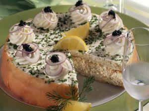 Frischkäse-Lachs-Kuchen Rezept