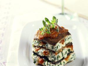 Frischkäse-Lasagne mit Portobello Rezept