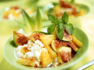 Frischkäse mit Früchten Rezept