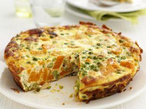 Frittata mit Erbsen und Möhren Rezept