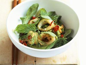 Frittierte Calamari mit Chili und Kräutern Rezept