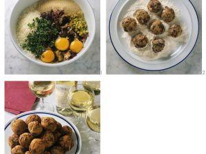 Frittierte Salat-Bällchen Rezept