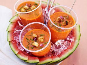 Fruchtige Gazpacho mit Wassermelone Rezept