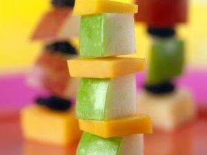 Fruchtige Käse-Spießchen Rezept