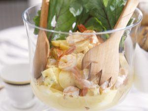 Fruchtiger Garnelen-Eiersalat Rezept