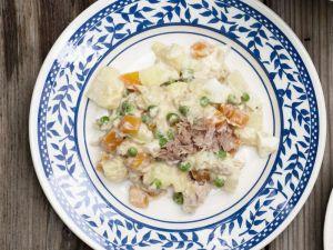 Fruchtiger Kartoffelsalat mit Thunfisch Rezept
