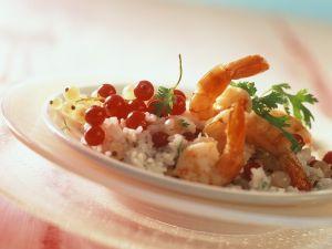 Fruchtiger Reis mit Garnelen Rezept