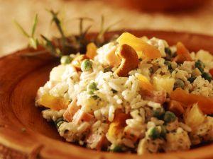 Fruchtiger Reissalat mit Pute Rezept