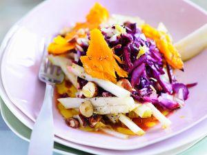 Fruchtiger Rotkohl-Kürbis-Salat Rezept