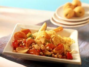 Fruchtiges Gemüseragout mit Couscous Rezept