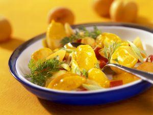 Fruchtiges Kartoffel-Paprikagemüse mit Curry Rezept