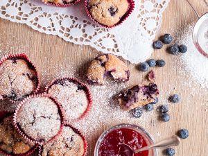 Frühstücks-Muffins mit Blaubeeren Rezept