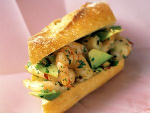 Garnelen-Avocado-Sandwich Rezept