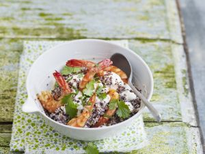 Garnelen mit Ricottacreme und Quinoa Rezept
