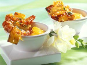 Garnelen-Spieße mit Mango Rezept