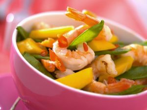 Garnelensalat mit Mango und Kaiserschoten Rezept