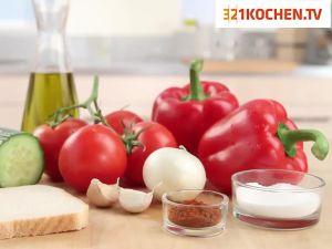 Einfache Gazpacho