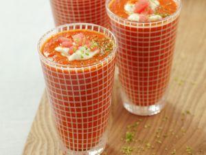 Gazpacho mit Wassermelone, Schmand und Limette Rezept