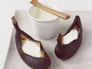 Gebackene Bananen mit Quark Rezept