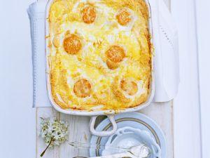 Gebackene Eier mit Käse Rezept