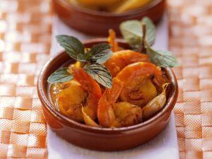 Gebackene Garnelen mit Tomatensauce Rezept
