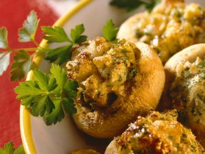 Gebackene, gefüllte Pilze Rezept
