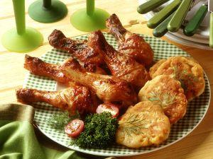 Gebackene Hähnchenkeulen Rezept
