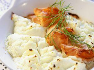 Gebackene Käsecreme mit Räucherlachs Rezept