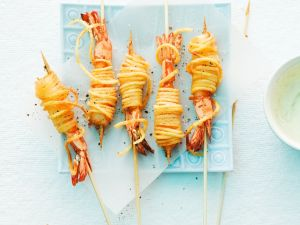Gebackene Kartoffel-Shrimps Rezept