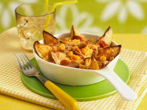 Gebackene Kartoffeln mit Mais Rezept