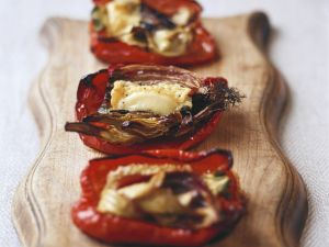 Gebackene Paprika mit Ziegenkäse Rezept