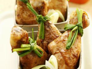 Gebackene Soja-Hähnchenkeulen Rezept