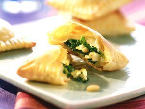 Gebackene Spinat-Feta-Ravioli Rezept