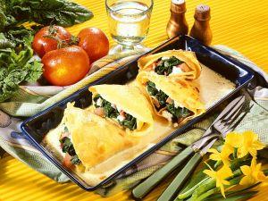 Gebackene Spinat-Pfannkuchen Rezept