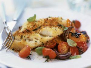 Gebackener Kabeljau mit Tomaten Rezept