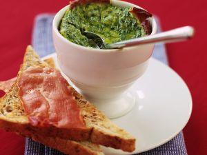Gebackener Spinat mit Toast Rezept