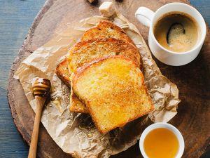 Gebackener Toast mit Honig Rezept