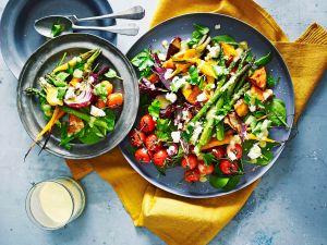 Gebackenes Gemüse mit Knoblauch-Senf-Dressing Rezept