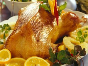 Gebratene Ente mit Südfrüchten Rezept