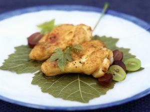 Gebratene Hähnchenbrust mit Trauben Rezept