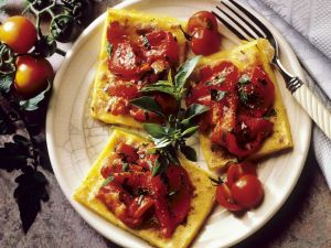Gebratene Polenta mit Paprika Rezept