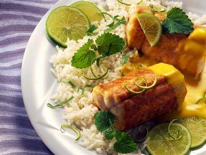 Gebratener Aal mit Reis Rezept