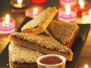 Gebratener Garnelen-Toast Rezept