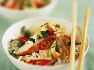 Gebratener Reis mit Hähnchenbrust Rezept