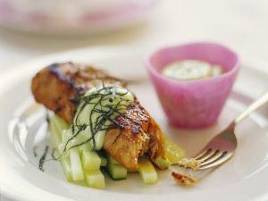 Gebratener Thunfisch mit Gurken Rezept