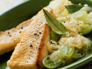 Gebratenes Filet vom Seelachs mit Traubenkraut Rezept